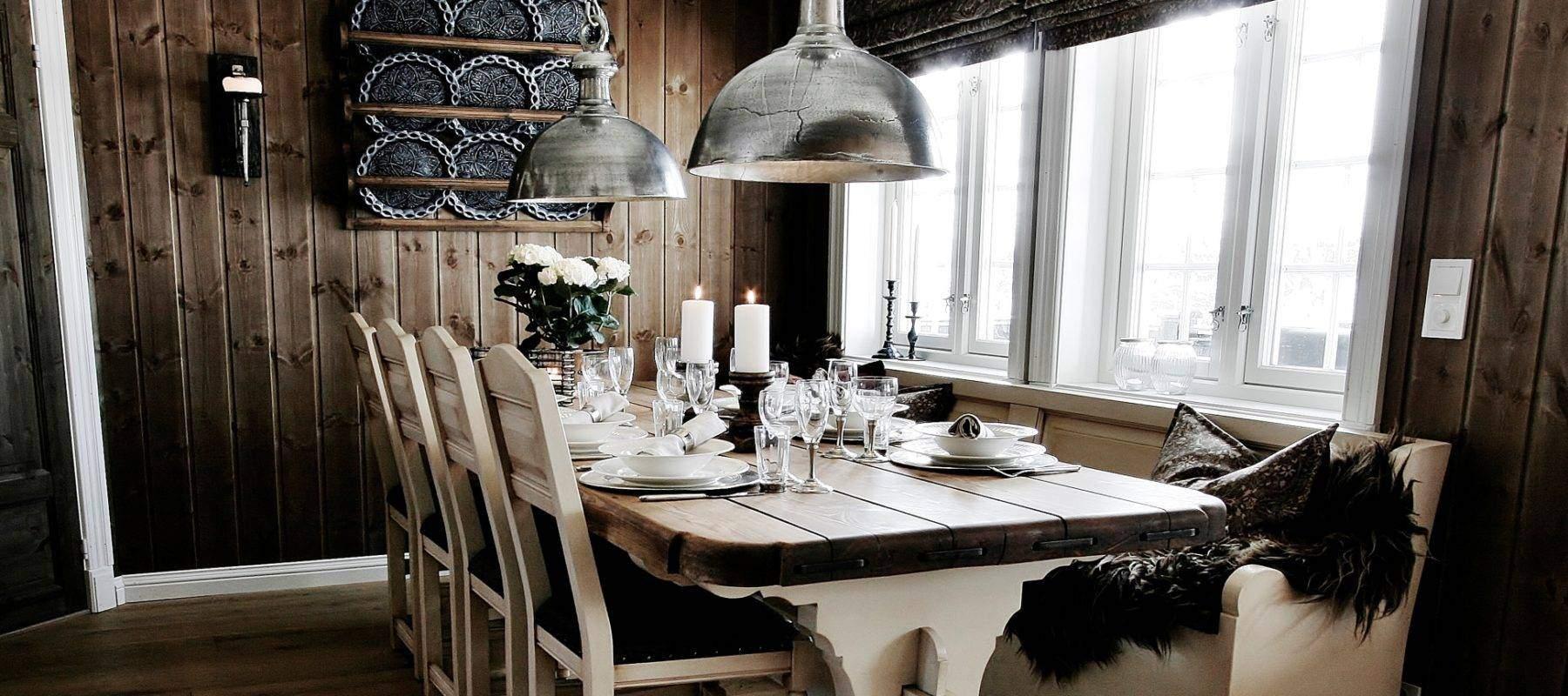 2915 Hytteinteriør fra hytte på Gålå
