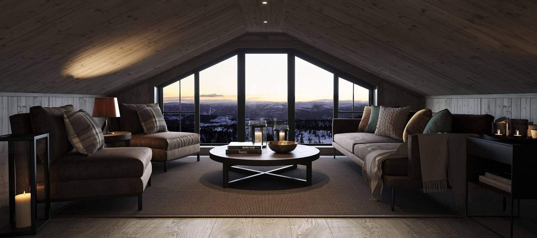40 Geilo Hytteinspirasjon – Interiør hems Tiurtoppen Hytter
