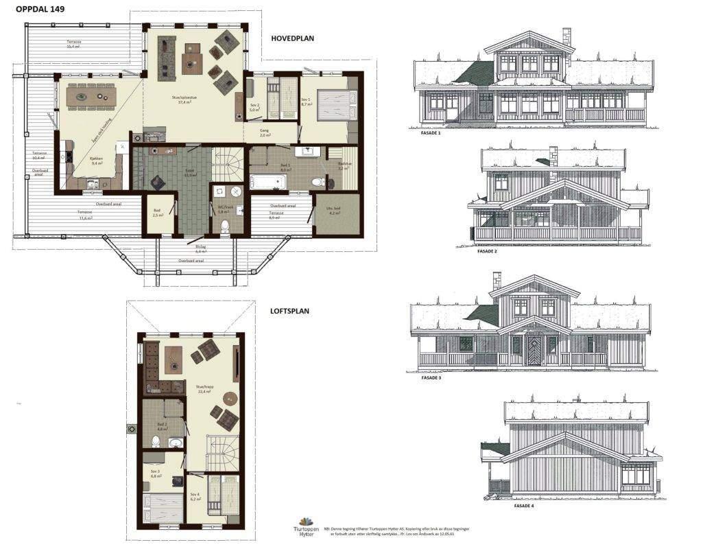 10 Oppdal 149 – Plan og fasader