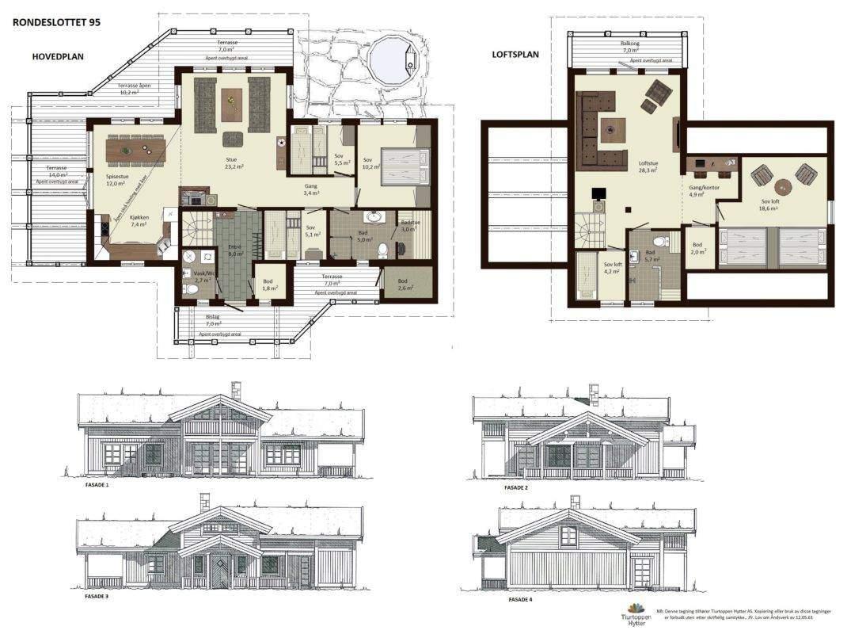 10 Rondeslottet 95 Plan og fasader