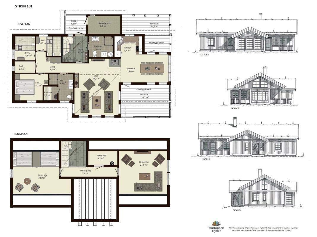 10 Stryn 101 plan og fasader