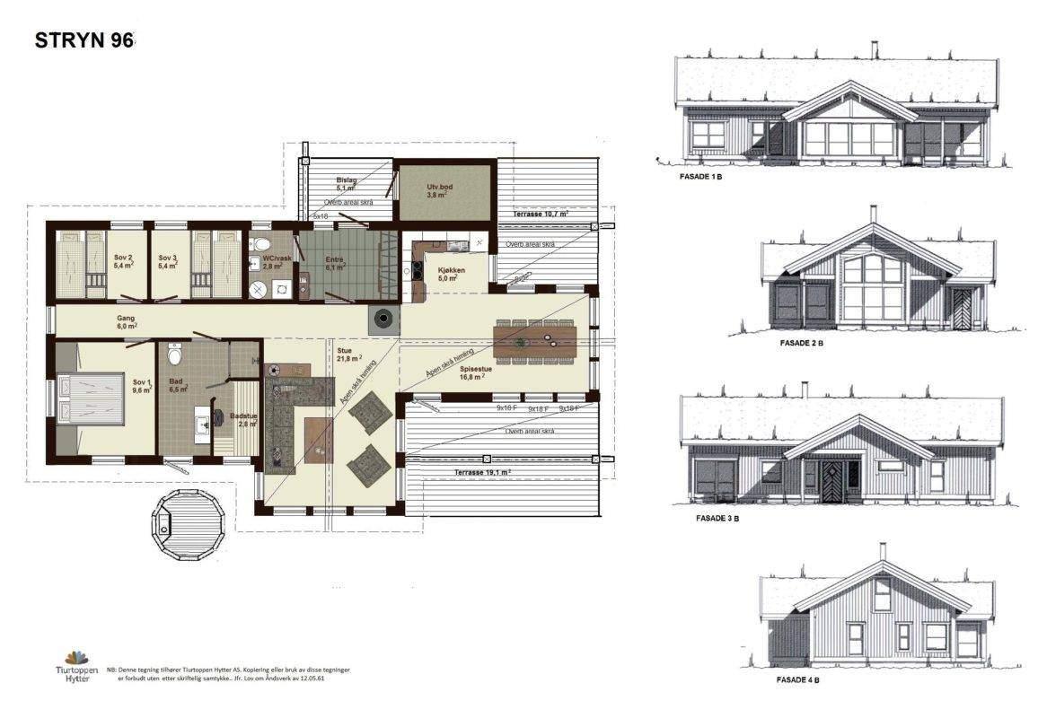 10 Stryn 96 Plan og fasader
