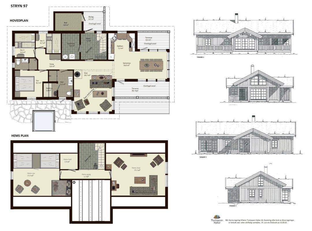 10 Stryn 97 Plan og fasader