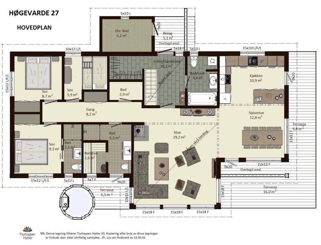 11 Høgevarde 127 – Hovedplan