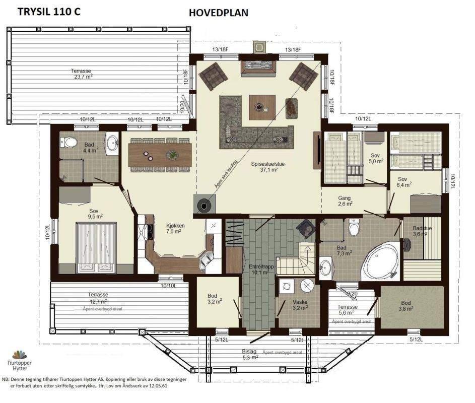 11 Trysil 110 C1 – Hovedplan
