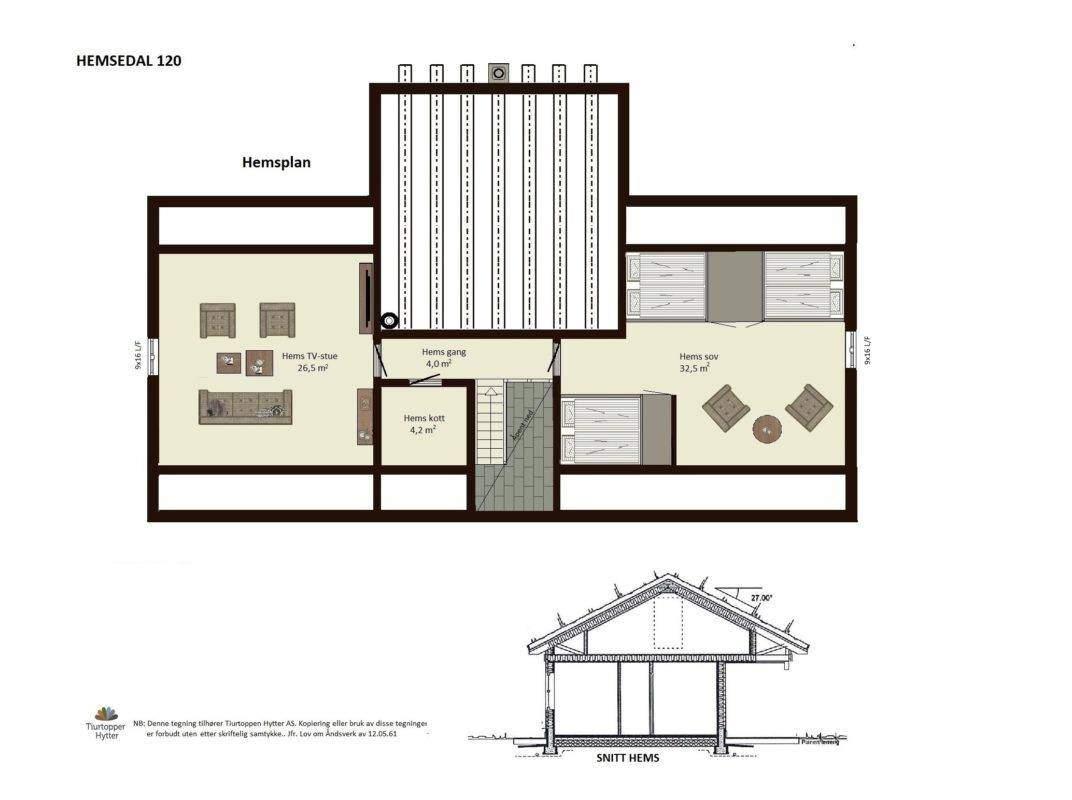 12 Hytte Hemsedal 120 Hems plan