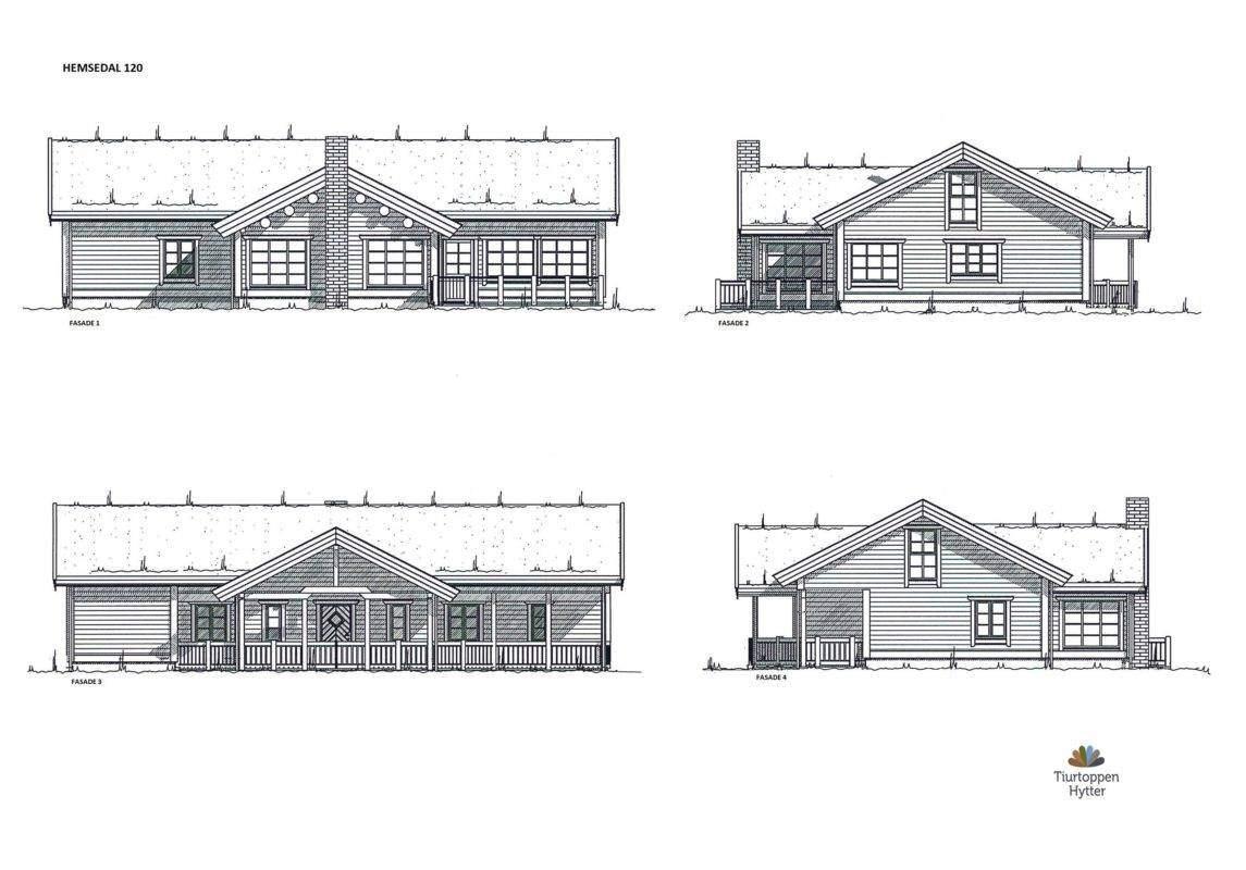 14 Hytte Hemsedal 120 fasader