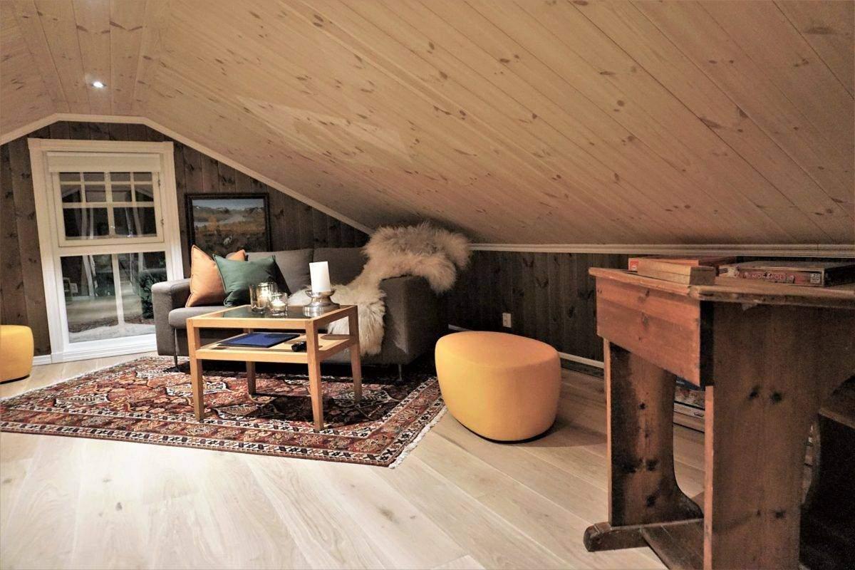 168 Hyttemodell Hytte Hemsedal 120 TV-aktivitetsrom på hems