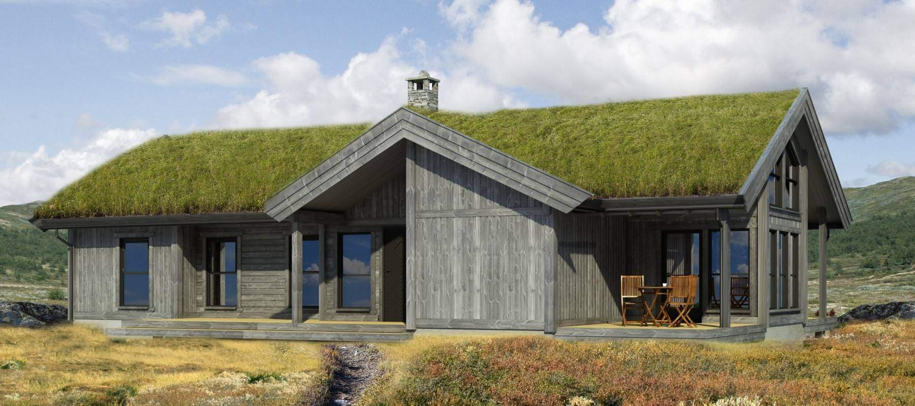 174 Hyttemodell Strynsfjell 120