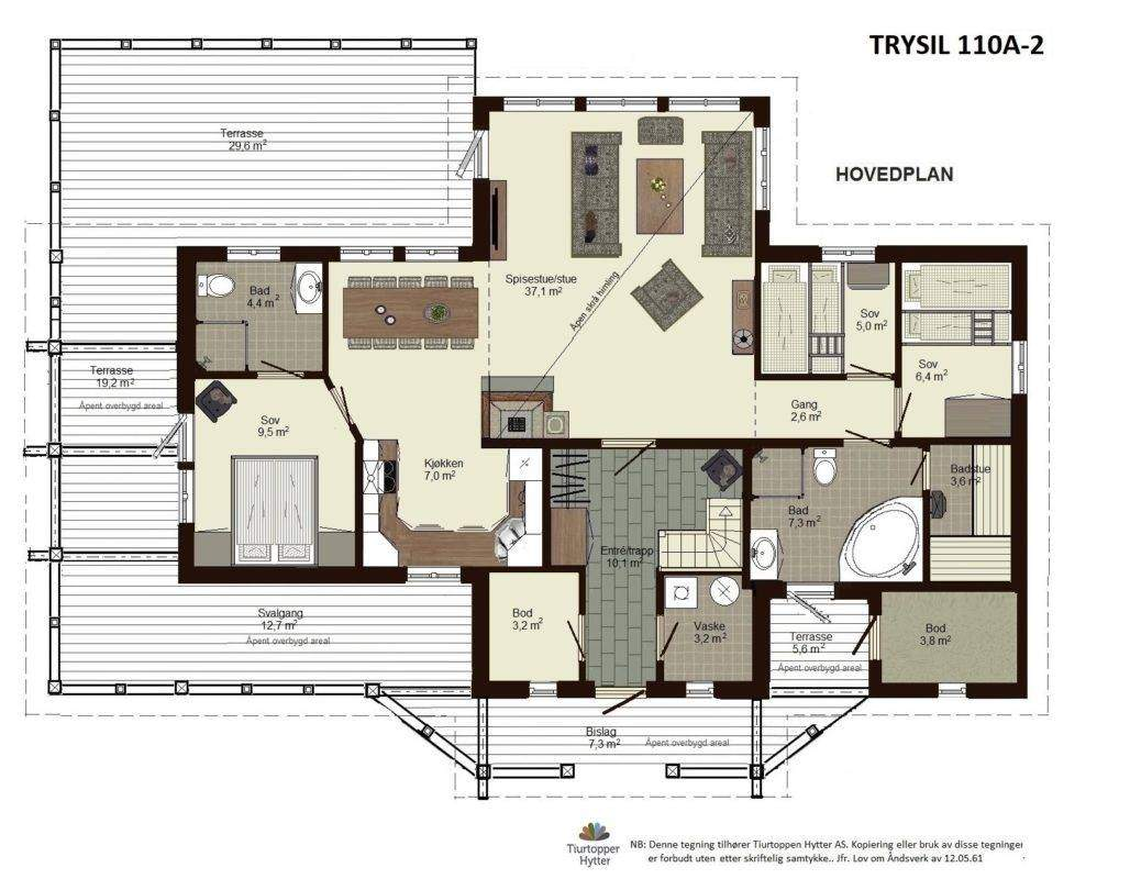 22 Trysil 110A-alt2 Hoveplan 1