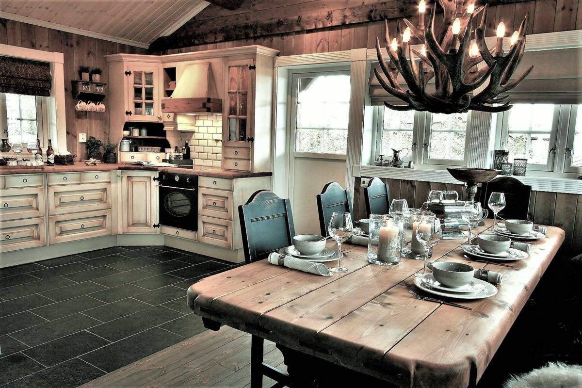 224 Hytteinspirasjon, Hytteinteriør Hafjell 138 Spisestue og kjøkken