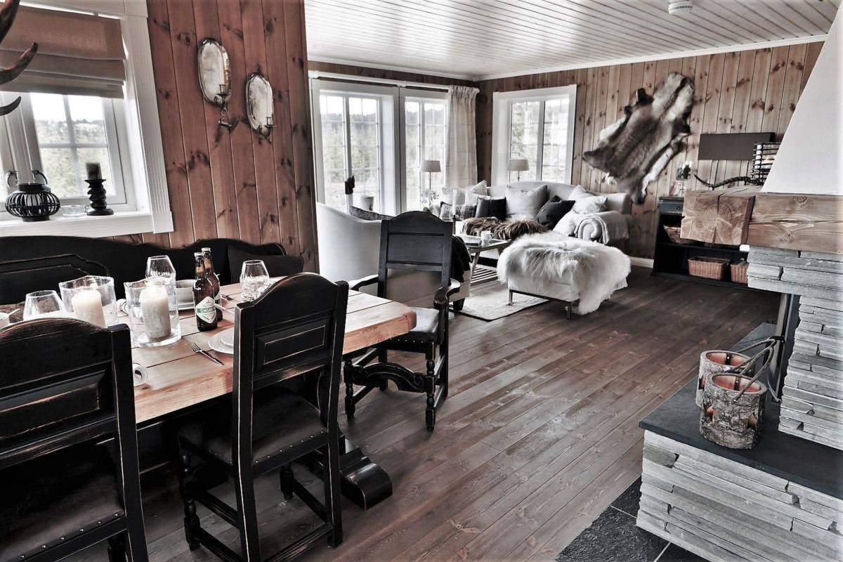 246 Hytteinspirasjon, Hytteinteriør Hafjell 138. Spisestua