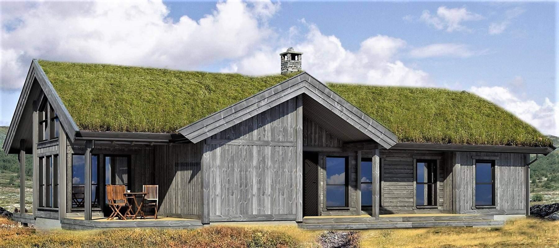 3200 Hytteleverandør Arkitektegnet Hytte Strynsfjell 120