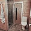 414 Hytteinspirasjon, Hytteinteriør Hafjell 138. Hovedbadet og badstue