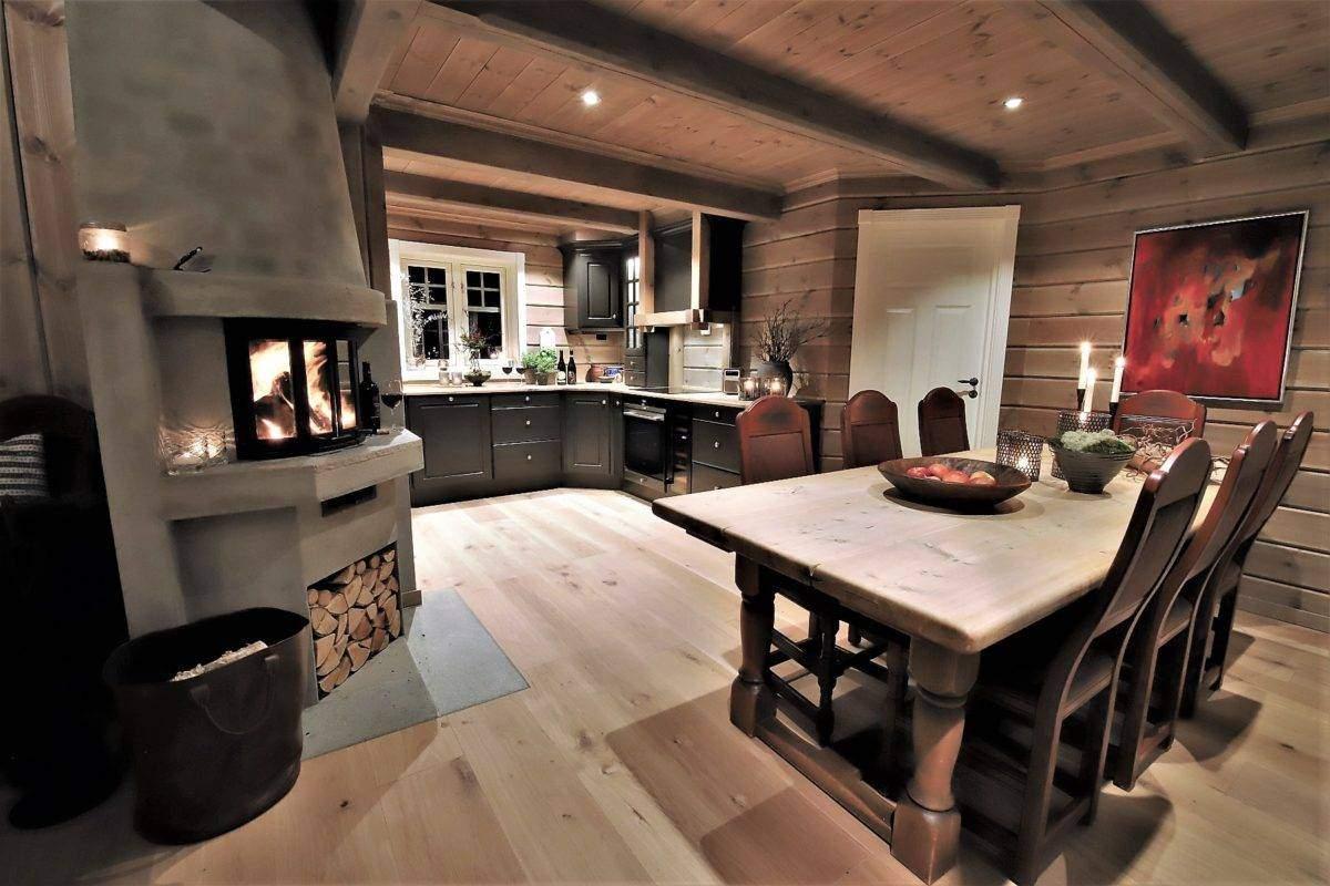 46 Hyttemodell Trysil 110B – Spisestue og kjøkken