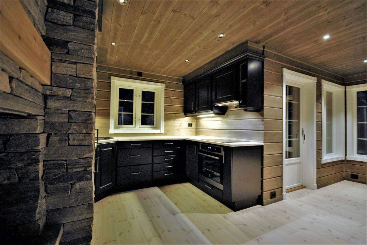 50 Hyttemodell Hytte Stryn 101 Oppdal – Kjøkkenet og spisestua
