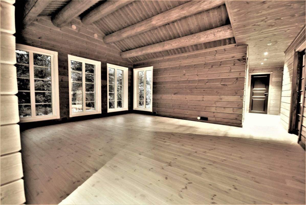 64 Hyttemodell Hytte Stryn 101 Oppdal – Stua mot soveromsavdelingen