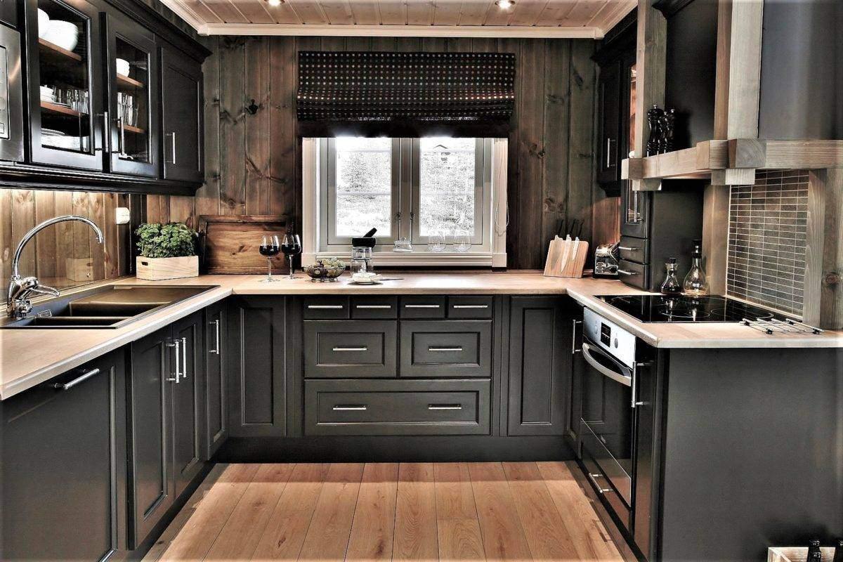 86 Hyttemodell Hytte Stryn 92 Veggli, Kjøkken med funksjonell planløsning