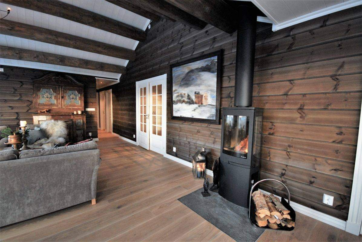 93 Hyttemodell Hytte Hemsedal 120 Stue