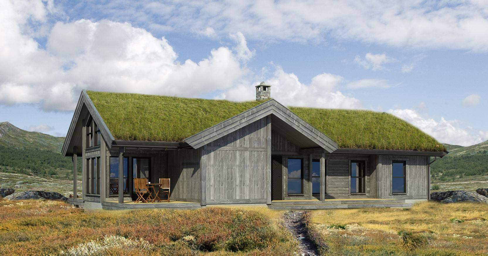 02 Hyttemodell Strynsfjell 120