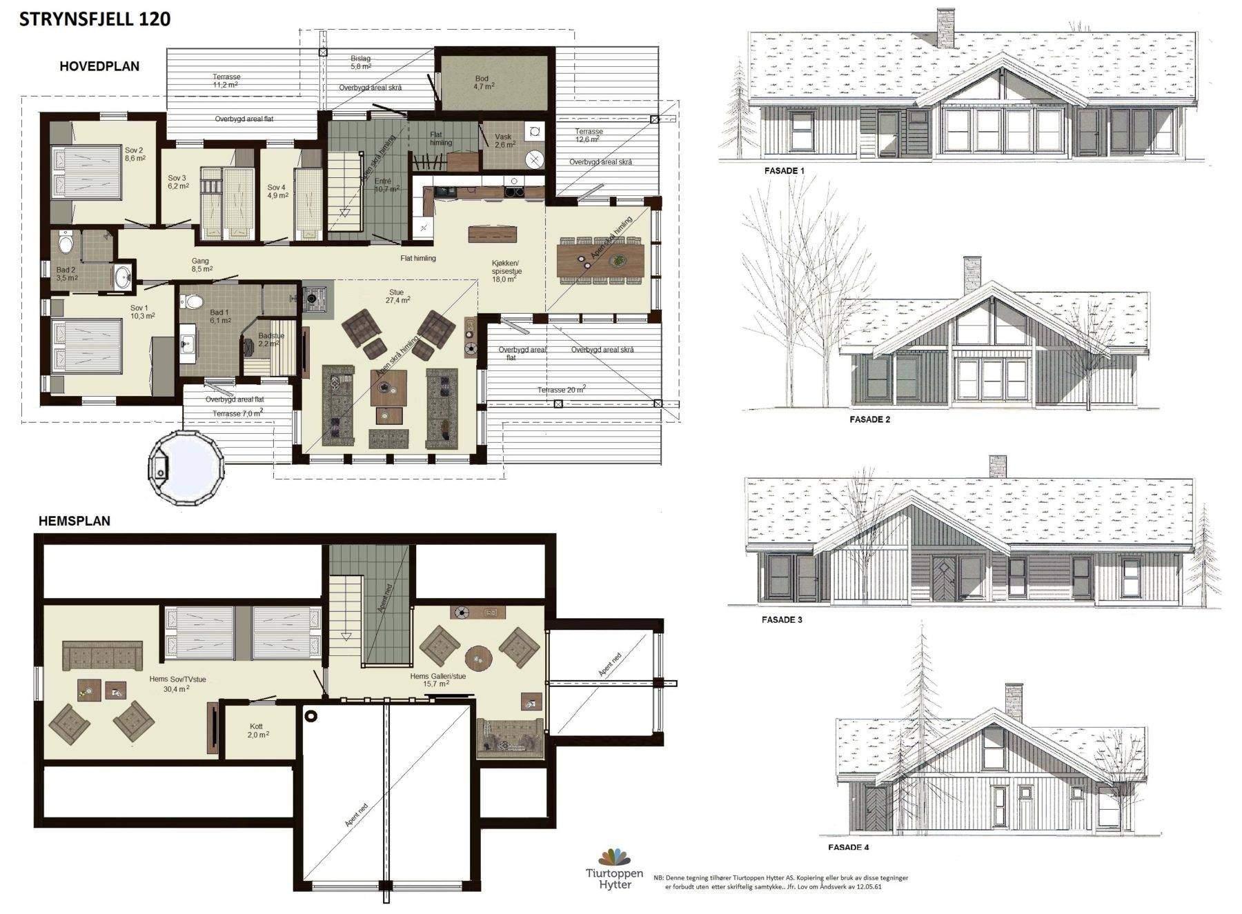 10 Strynsfjell 120 plan og fasader 0