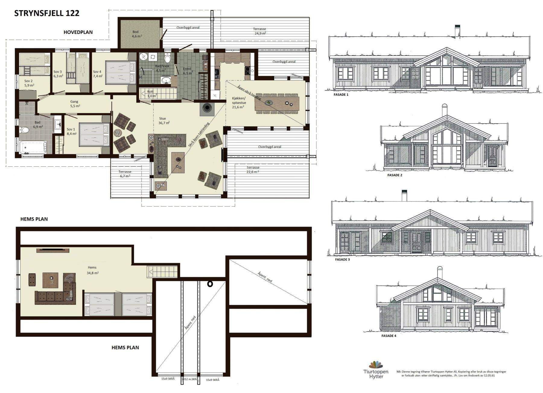 10 Strynsfjell 122 plan og fasader (1)