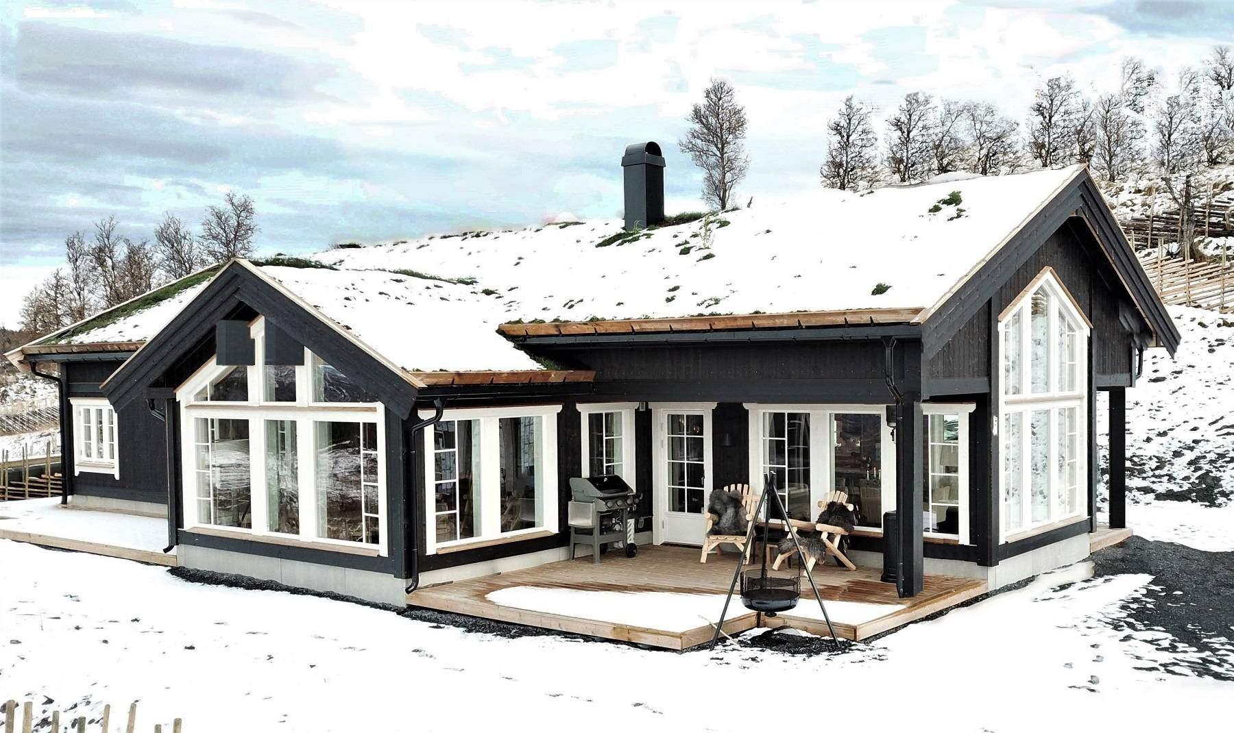 1051 Hyttemodell Stryn 122 – Hytteleverandør Tiurtoppen Hytterr