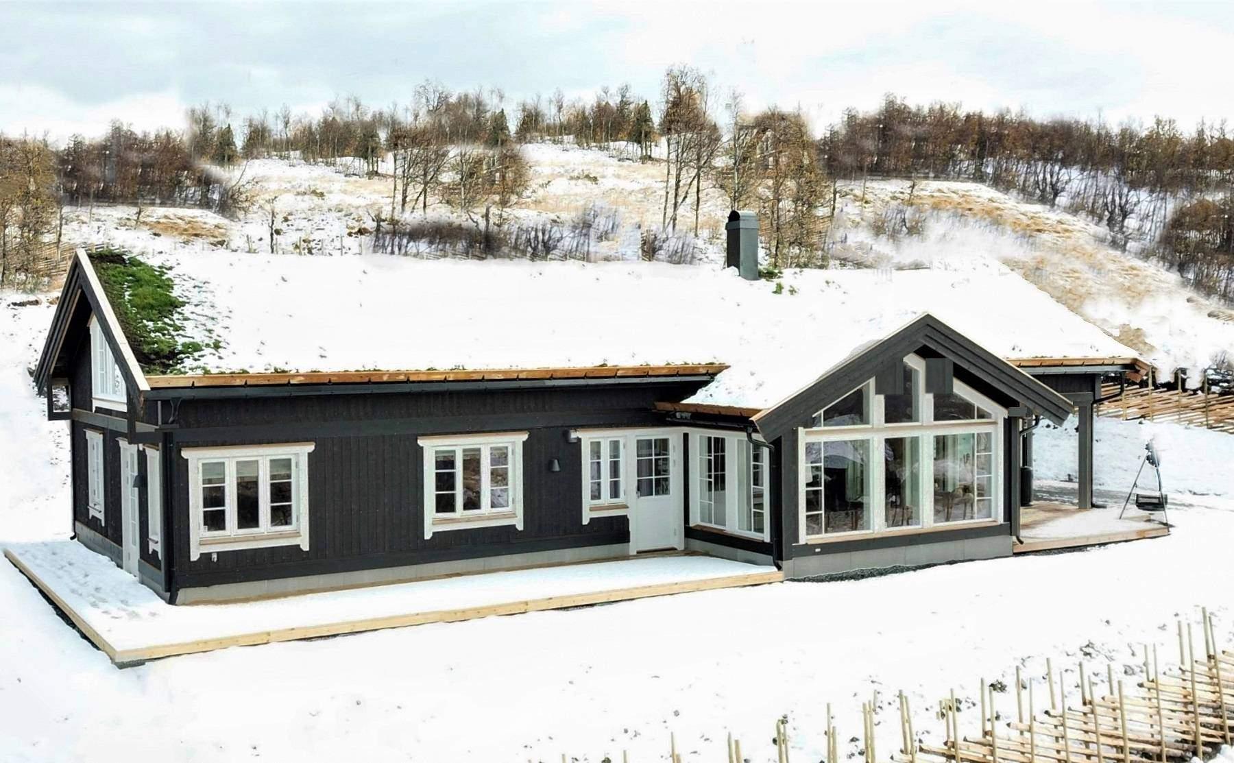 1081 Hyttemodell Stryn 122 – Hytteleverandør Tiurtoppen Hytter