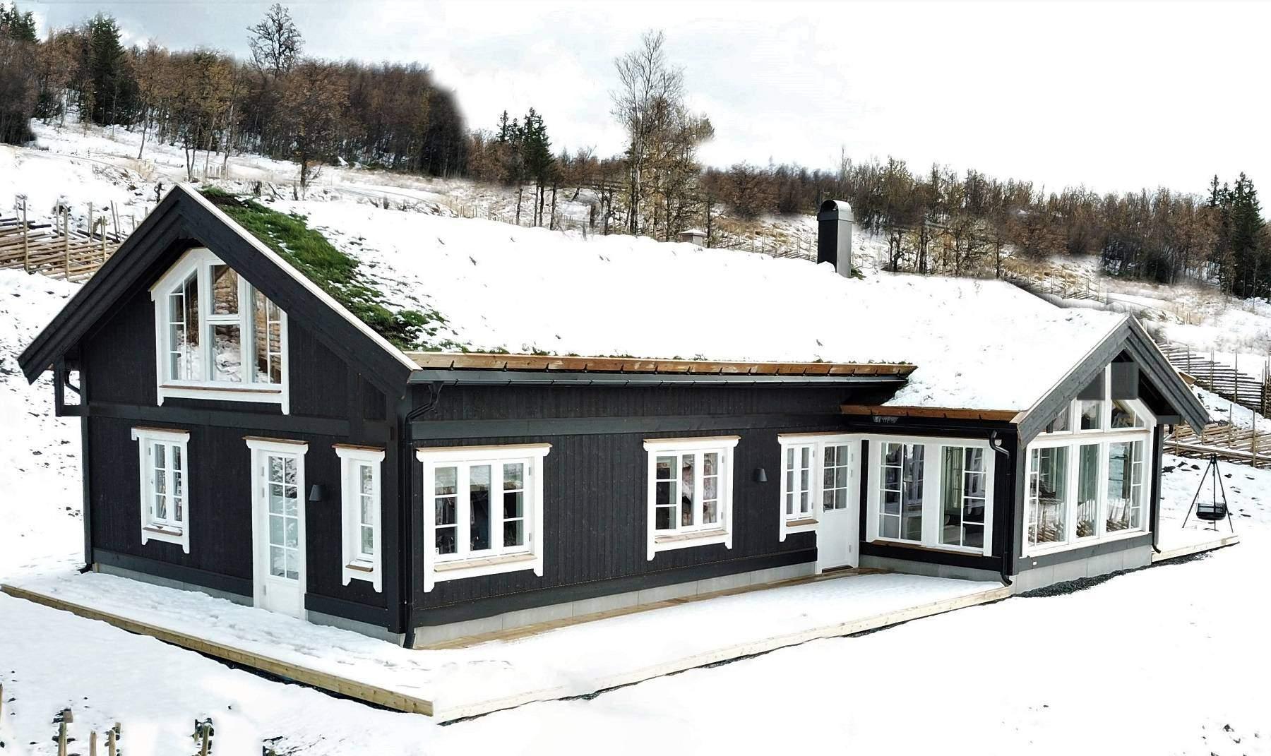 1087 Hyttemodell Stryn 122 – Hytteleverandør Tiurtoppen Hytter