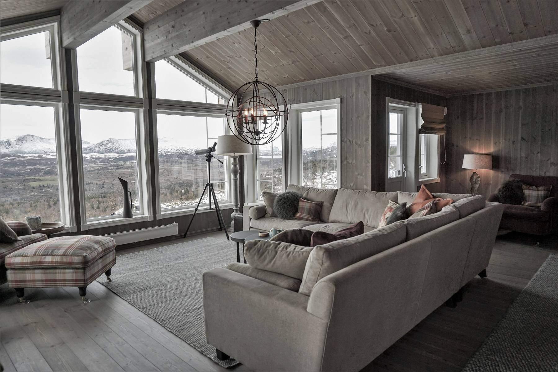 148 Hyttemodell Hytte Strynsfjell 122 Tiurtoppen Hytter. Stor stue med mange innredningsmuligheter