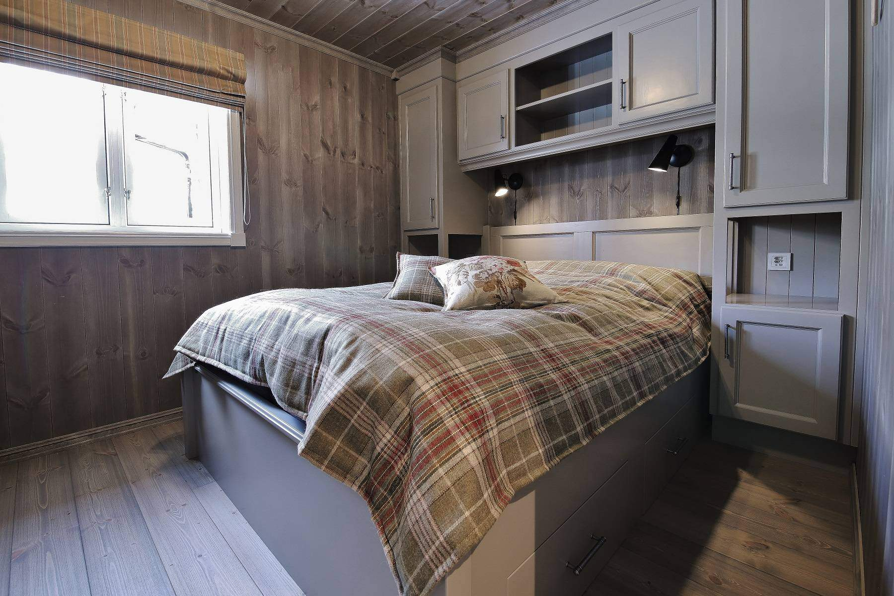 420 Hyttemodell Hytte Strynsfjell 122 Tiurtoppen Hytter. Soverom nr 4 med plass til dobbeltseng