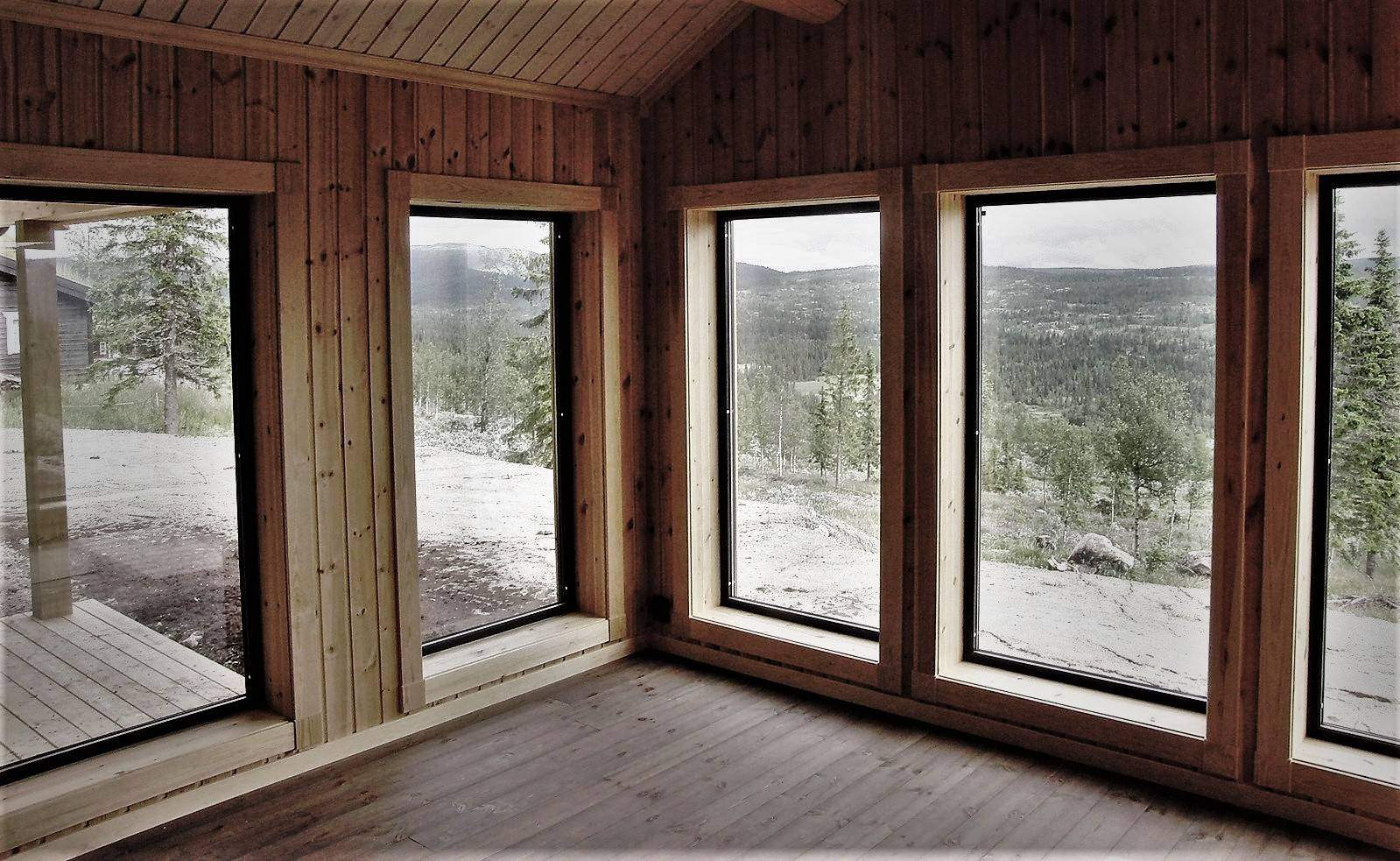 61 Hyttemodell Strynsfjell. Stua
