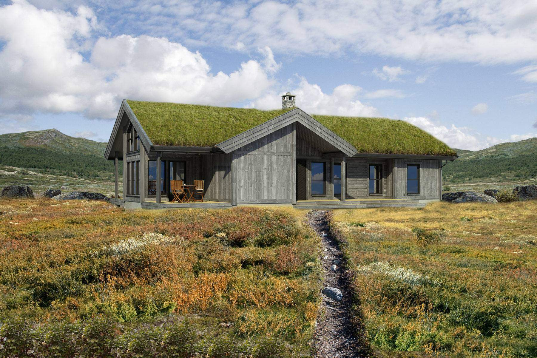 71 Hyttemodell Strynsfjell 120_