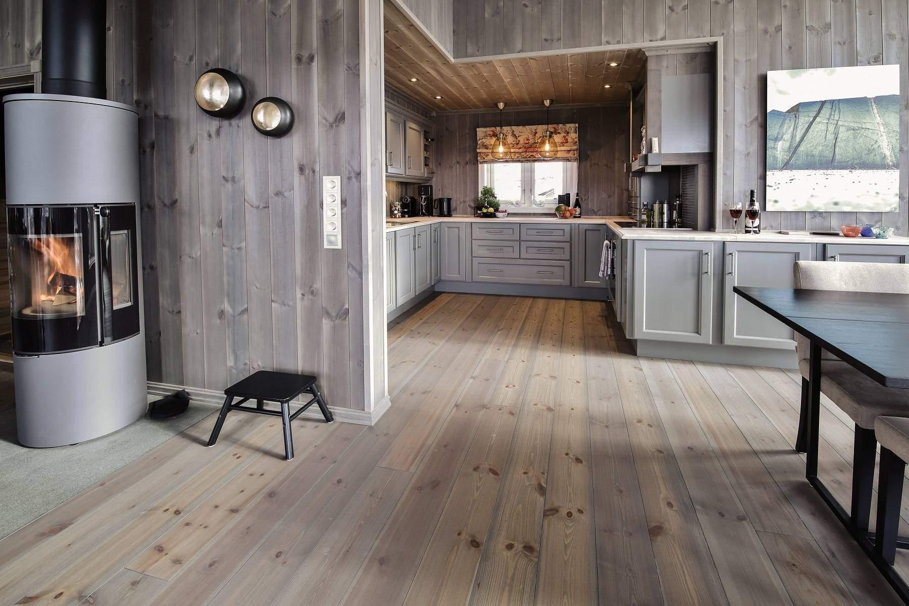 299 Hytteinteriør Hytteinspirasjon Strynsfjell 122 på Høyset Panorama Vaset. Fra spisestua mot kjøkkenet