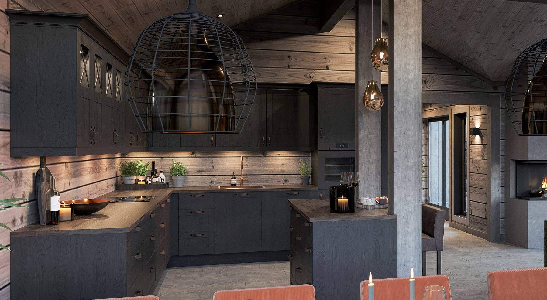 172 Kjøkkenet – Hyttemodell Geilo 155